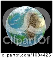 Clipart 3d Ecological Footprint On The Earth Royalty Free CGI Illustration