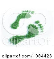 Clipart 3d Green Grassy Footprints Royalty Free CGI Illustration