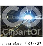 Clipart 3d Futuristic Corridor With Bright Light At The End Royalty Free CGI Illustration