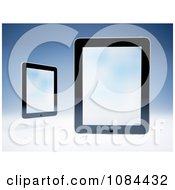 Clipart 3d Floating Tablet Computers Royalty Free CGI Illustration by Mopic
