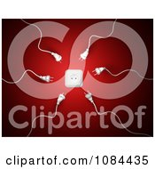 Clipart 3d White Sperm Power Plugs Attracted To A Wall Socket Royalty Free CGI Illustration by Mopic