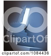 Clipart 3d Staircase Leading To An Open Door With Bright Light Royalty Free CGI Illustration by Mopic