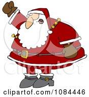 Santa Waving His Fist In The Air