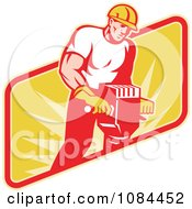 Clipart Retro Jackhammer Operator Royalty Free Vector Illustration by patrimonio