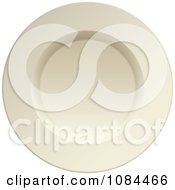 Clipart 3d White Porcelain Plate Royalty Free Vector Illustration