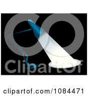 Clipart 3d Blue Desk Lamp Shining Light Over Black Royalty Free Vector Illustration