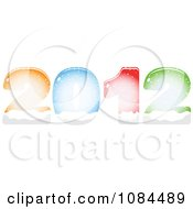 Clipart Colorful New Year 2012 Filling With Snow Royalty Free Vector Illustration by Andrei Marincas