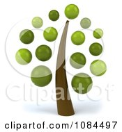 3d Tree With Green Bubble Foliage