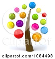 Clipart 3d Tree With Colorful Bubble Foliage Royalty Free CGI Illustration