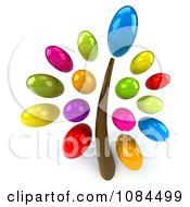 Clipart 3d Tree With Colorful Oval Foliage Royalty Free CGI Illustration by Julos