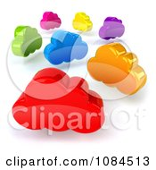 Clipart 3d Colorful Clouds Royalty Free CGI Illustration
