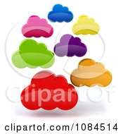 Clipart 3d Floating Colorful Clouds Royalty Free CGI Illustration
