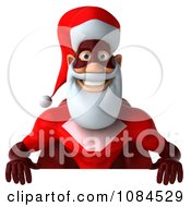 3d Super Santa With A Sign Board 2