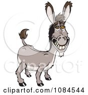 Clipart Grinning Donkey Ass Royalty Free Vector Illustration by Dennis Holmes Designs