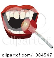 Clipart Vampire Mouth Eating A Loli Pop Royalty Free Vector Illustration