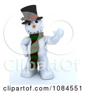 Clipart 3d Frosty The Snowman Waving Royalty Free CGI Illustration