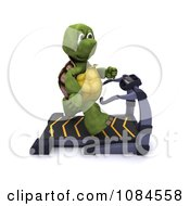 Clipart 3d Healthy Tortoise Jogging On A Treadmill Royalty Free CGI Illustration by KJ Pargeter