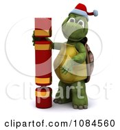 3d Christmas Tortoise With A Cracker