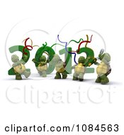 3d New Year Tortoises Dancing By 2012