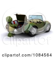 Clipart 3d Tortoise Putting Christmas Presents In A Trunk Royalty Free CGI Illustration by KJ Pargeter