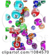 3d Colorful Gambling Lottery Or Bingo Balls Falling