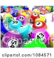 3d Colorful Gambling Lottery Or Bingo Balls 1