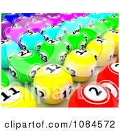 Clipart 3d Colorful Gambling Lottery Or Bingo Balls 2 Royalty Free CGI Illustration