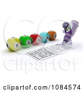 Clipart 3d Robot Playing Bingo And Marking His Sheet Royalty Free CGI Illustration by KJ Pargeter