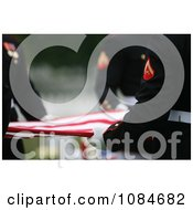 Men Holding A Flag After A Funeral Ceremony Free Stock Photography