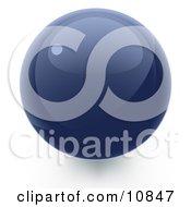 Blue 3d Sphere Internet Button