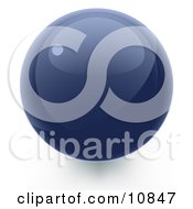 Clipart Illustration Of A Blue 3D Sphere Internet Button by Leo Blanchette