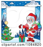 Clipart Christmas Santa Frame With Copyspace 2 Royalty Free Vector Illustration