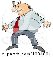 Clipart Businessman Wearing A Clothespin On His Nose Due To Smell Royalty Free Vector Illustration by djart