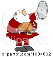 Santa Presenting A Roasted Turkey