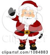 Clipart Santa Claus Waving Hello Royalty Free Vector Illustration