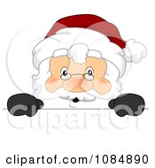 Santa Claus With A Christmas Sign 2