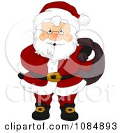 Santa Claus Carrying His Christmas Sack