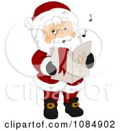 Clipart Santa Claus Singing Christmas Carols Royalty Free Vector Illustration by BNP Design Studio