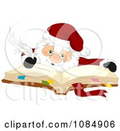 Santa Claus Writing In His Christmas Planner