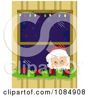 Santa Claus Peeking Through A Christmas Window