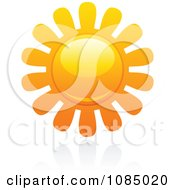 Clipart Hot Summer Sun And Reflection 16 Royalty Free Vector Illustration