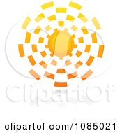 Clipart Hot Summer Sun And Reflection 9 Royalty Free Vector Illustration