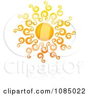 Clipart Hot Summer Sun And Reflection 12 Royalty Free Vector Illustration