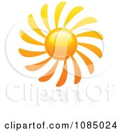 Clipart Hot Summer Sun And Reflection 7 Royalty Free Vector Illustration