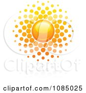 Clipart Hot Summer Sun And Reflection 6 Royalty Free Vector Illustration