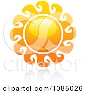 Clipart Hot Summer Sun And Reflection 14 Royalty Free Vector Illustration