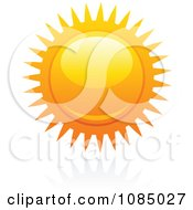 Clipart Hot Summer Sun And Reflection 15 Royalty Free Vector Illustration