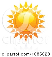 Clipart Hot Summer Sun And Reflection 13 Royalty Free Vector Illustration