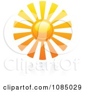Clipart Hot Summer Sun And Reflection 5 Royalty Free Vector Illustration