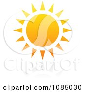 Clipart Hot Summer Sun And Reflection 2 Royalty Free Vector Illustration